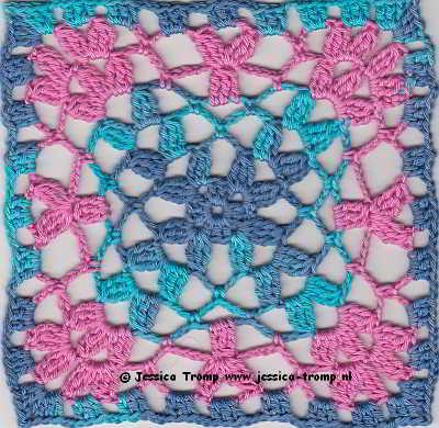 20 Crochet Granny Squares Vierkanten Haken