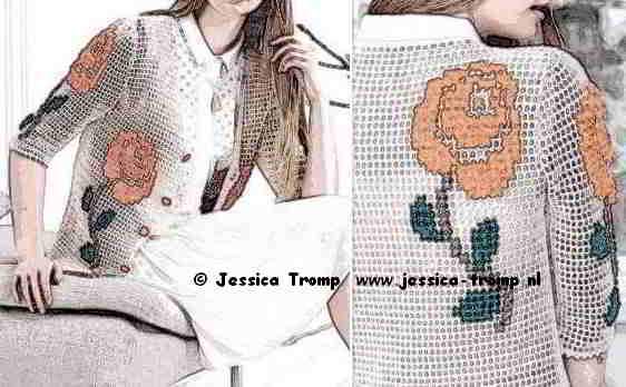Beroemd 59 English text 2 free crochet patterns women crocheted with flowers &BG86
