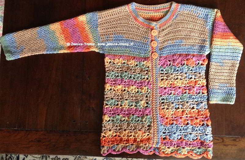 0224c2a7670d8 free crochet pattern in 6 different sizes cute crocheted children s cardigan  ...