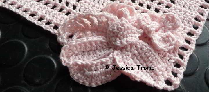 English Pattern Crochet Filet Square With Flowers Filet Haken