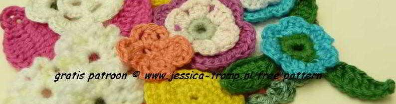 5 Applicaties Kinder Haakpatronen Free Appliqués Children Crochet