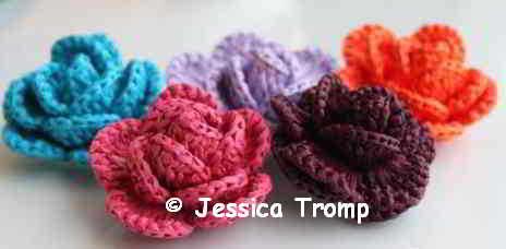 13a Bloemen Opgerolde Bloem Haakpatronen Crochet Rolled Up Flower