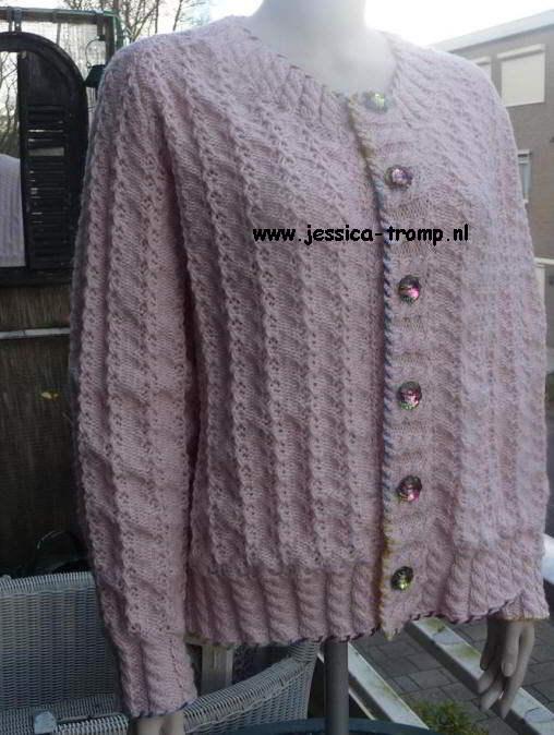 V Neck Free Knitpattern Womens Cardigan Machine Knitting