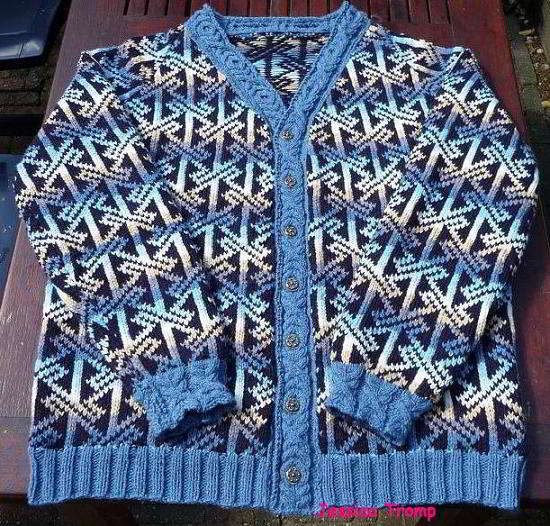 English Mens Celtic Sweater Knitpattern For Man