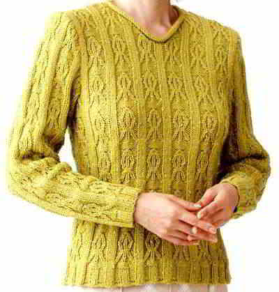 13 English Aran Sweaters Cable Lace Pattern Vnecksweater Free Women