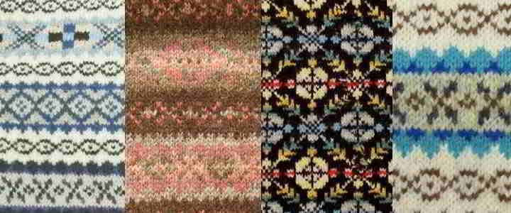using colors in fair isle knitting