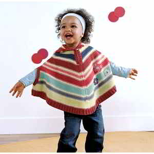 36a English Free Children S Ponchos Patterns Knitpatterns 2 6 Years