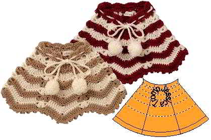 123 English Poncho Patterns Children S Knitpattern Sizes For 8 14 Years
