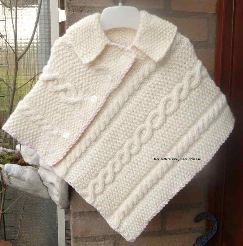 36b English free baby poncho patterns knitpattern sizes 4.5kg 6m 8.2 ...