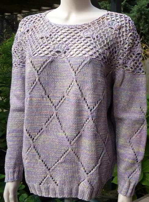 English Knitting Patterns Womens Sweater With Round Yoke Crochet