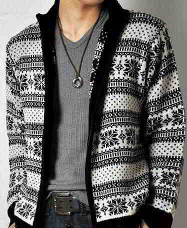 26a English Mens Cardigan Sweater Free Basic Knittingpatterns Inches